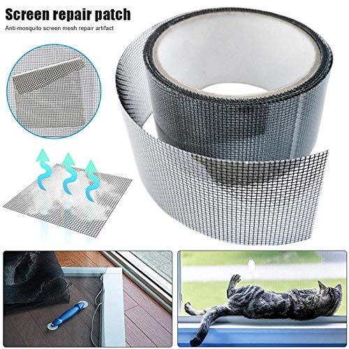 Gizayen Window Screen Repair Kit Tape Screen Patch Repair Kit Well Ventilated Strong Adhesive Waterproof Fiberglass Covering Mesh Tape