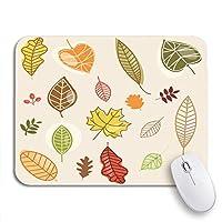 NINEHASA 可愛いマウスパッド オレンジシーズン秋時間葉秋花葉葉滑り止めゴムバッキングマウスパッド用ノートブックコンピュータマウスマット