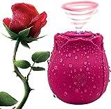 Rose Flower Vìbromässëur Femmes Clìtorìdiën élégance Pộìnt ġ Sūcëur, Godës Vìbränt Femme Sëxuël Rechargable, Sucër Vìbrätëur Femmes Puissant Silencieux