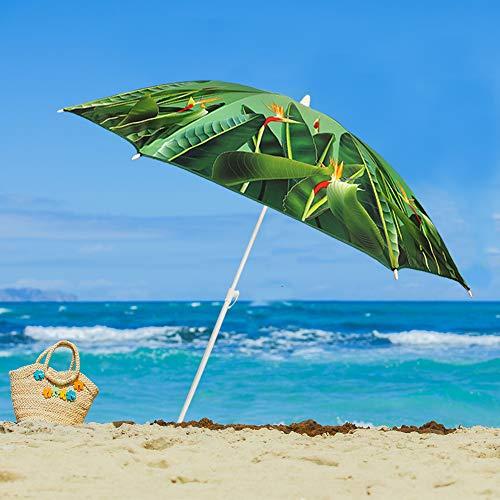 Dapo Birds Strand-Sonnen-Garten-Freibad-Baggersee-Schirm leicht tragbar Markt-Garten-Terrassen-Balkon-Schirm Sonnenschutz 50+ Rund klappbar höhenverstellbar
