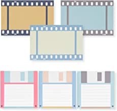 Monolike Retro notepad Floppy Disk and Film design, Mix 6 packs - Note pads Writing pads Memo pads