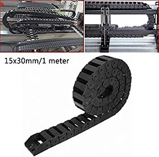 15x30mm 1 Meter Black Cable Drag Chain Nylon Reinforcement Material Fairlead Case Tray Direct Parts Bins Organizer Tool Storage Tool Parts Winch Deep Reel Ocean Kevlar Rope Spin Ha