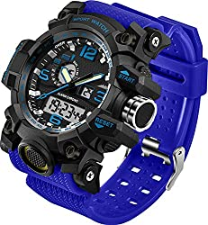 top rated Men's Watch Military Sports Electronic LED Stopwatch Digital Analog Dual Time Outdoor Army … 2021