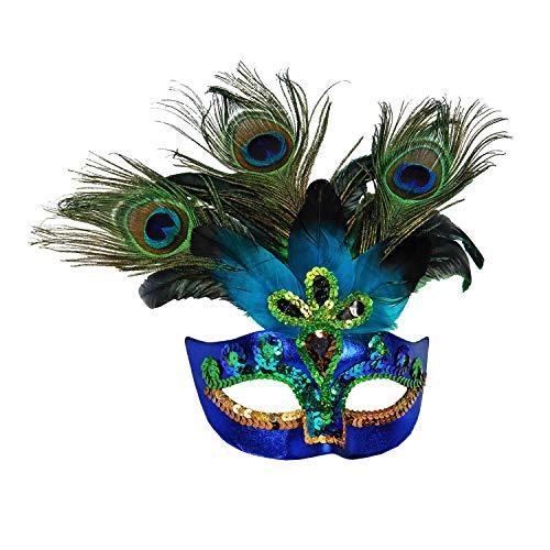Widmann 07787 - Pfauenmaske, Accessoire, Maske, Augenmaske, Maskenball, Karneval, Mottoparty