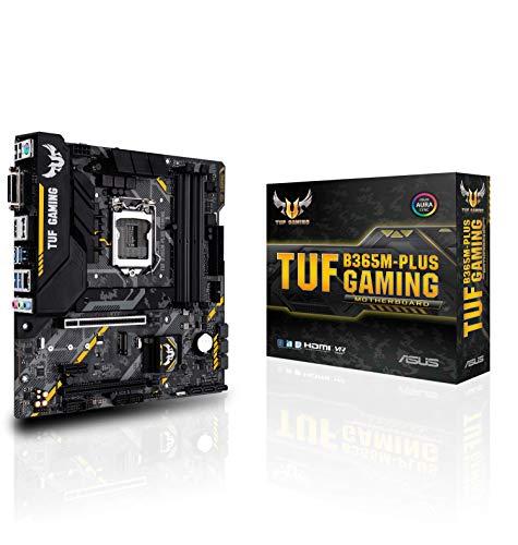 ASUS TUF B365M-PLUS Gaming - Placa Base (LGA 1151, Intel B365 chipset, soporta 14 NM CPU, 4 x DDR4, Intel HD Graphics, 6 x USB 3.1 Gen1, 6 x USB 2.0, AMD 2-Way CrossFireX, mATX)