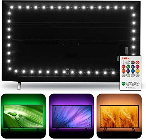 Hamlite TV LED-Hintergrundbeleuchtung für 60 65-Zoll-Fernseher, 6500K Bias-Beleuchtung True White, 4,5M LED-Hintergrundbeleuchtungsmonitor, W-Form Easy-Curve-Design TV-Bias-Beleuchtung Ambilight TV PC