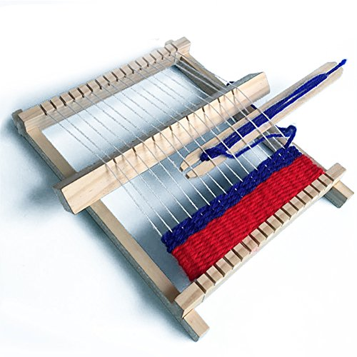 Amyove Playset DIY Hand-Knitting Wooden Loom Toys Children Weaving Machine Interllectural Development Technology Production Best Gift for Kids