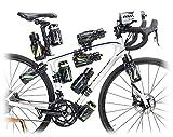 Raceone, Portaoggetti e adattatori per bicicletta Unisex adulto, Nero, L