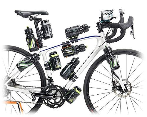 RaceOne - Portaobjetos y adaptadores para Bicicleta, Unisex, para Adulto, Negro, L