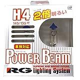 レーシング ギア ( RACING GEAR ) ハロゲンバルブ 【パワー ビーム 3400K】 H4 2個入り G40P