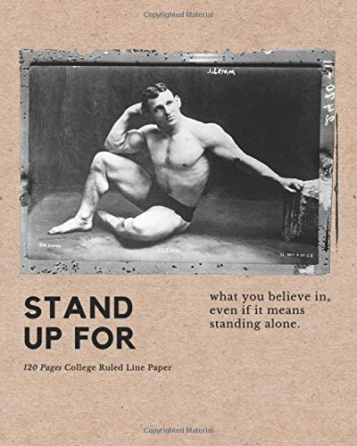 """Stand up for: My very personal journal with a unique cover design 8\"""" x 10\"""" (20.32 x 25.4 cm)"""