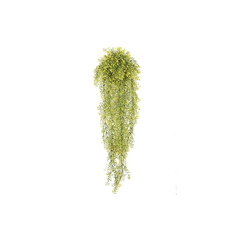 silk flower arrangements artificial hanging plants plastic fake hanging fall greenery flowers wall home outdoor indoor décor yellow morning flowers