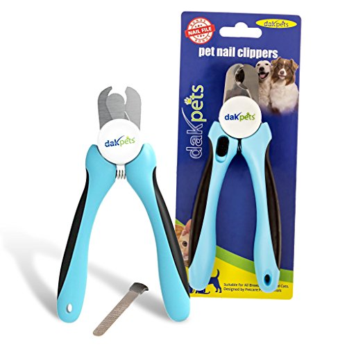 DakPets Dog Nail Clippers   Professional Dog Nail Trimmer for Medium to Large Breeds   Pet Nail Clippers for Dogs with Safety Guard   Stainless Steel Nail Cutter for Dogs and Pet Nail File