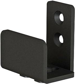 Matte Black Floor Guide Wall Mount Sliding Barn Door Hardware Up to 1-3/8W 1-1/4H
