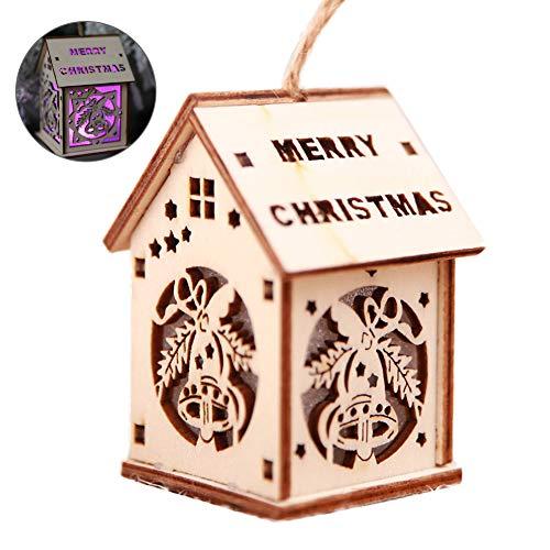28 cm déco pour Noël éclairage Led wei Éclairées de Noël ville 2 env