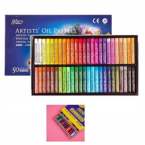 YQSWXZQP Oil Pastels Crayon-Oil Paint Group 48 Color Oil Powder, Suitable for...