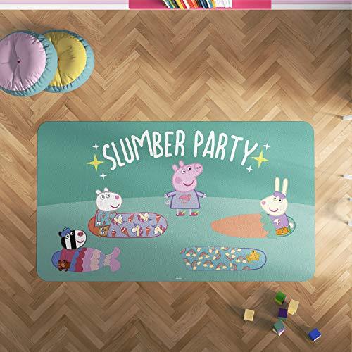 Oedim Alfombra PVC Peppa Pig Fiesta de Pijamas | 133 x 95 cm | Producto Oficial y Original | Suelo vinílico | Decoración del Hogar | Peppa Pig |
