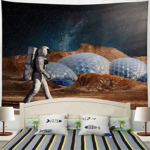 WERT Serie de astronautas Tapiz de Pared de Arte impresión Digital Manta de Pared Pintura Dormitorio decoración de la habitación Tapiz Colgante de Pared A8 150x200cm