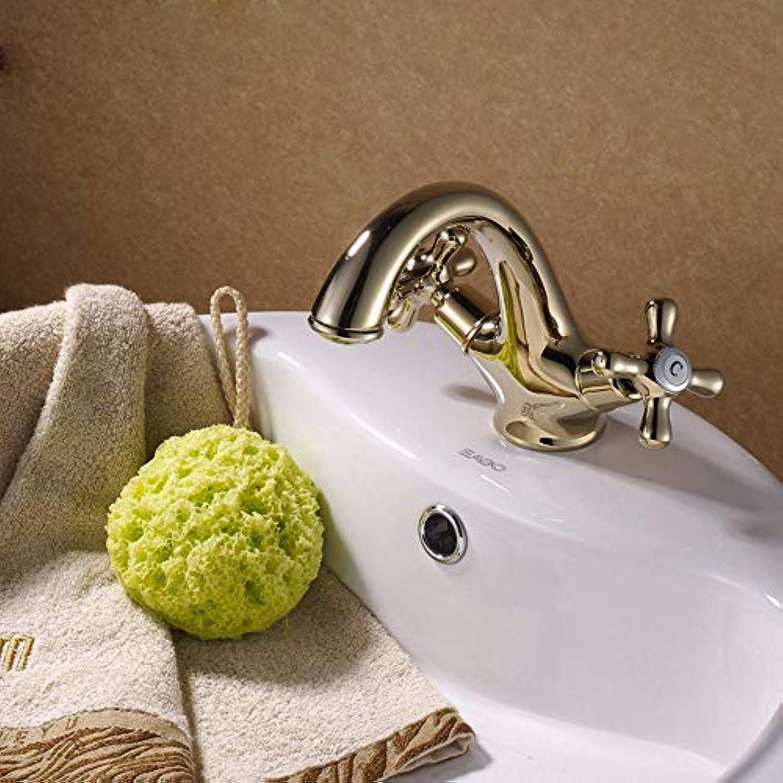 Wasserhahn Golden Hei Und Kalt Doppelgriff Moderne Wasserhhne Küche Messing Wasserhahn Waschbecken Wasserfall Mischbatterie Wasser Waschraum Badewanne Dusche