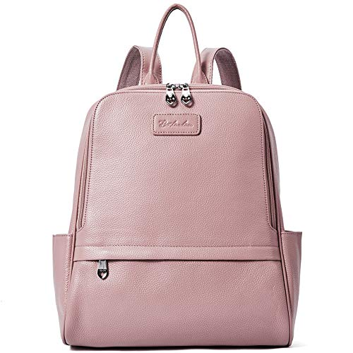 BOSTANTEN Damen Leder Rucksack Backpack Wanderrucksack Reiserucksack Schultasche modisch Rosa