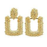 Orecchini pendenti geometrici da donna in metallo color oro orecchini vintage e Lega, colore: 1, cod. JanaWinkle46HK175-1