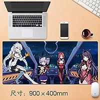 Vampsky 日本のアニメマウスパッドテーブルマットHonkaiインパクト第三防水グラフィティマウスは特大ノンスリッププロフェッショナルラバークリエイティブがデスクノートPC 90 * 40センチメートルについてゲーミングマウスパッドをパーソナライズマット (サイズ : Thickness: 3mm)