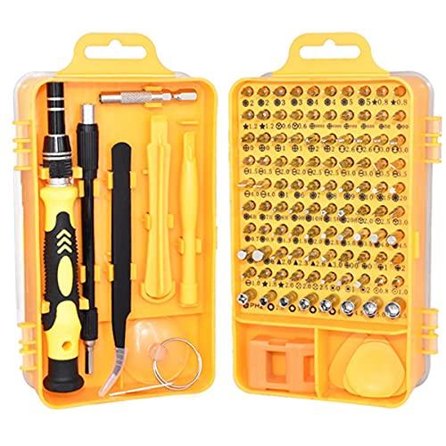 Persdico Kit de Destornilladores de precisión 115 en 1, Juego de Accesorios, Herramientas de reparación de Trabajo Manual de Acero CR-V, Mini Bricolaje para iPhone, Ordenador portátil, Reloj de PC