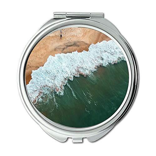 Yanteng Spiegel, Reise-Spiegel, Strand-Vogelperspektive Boot, Taschenspiegel, tragbarer Spiegel