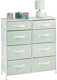 mDesign commode à 8 tiroirs pour les jouets et les vêtements – meuble à tiroirs robuste pour la chambre d'enfant – rangeme...