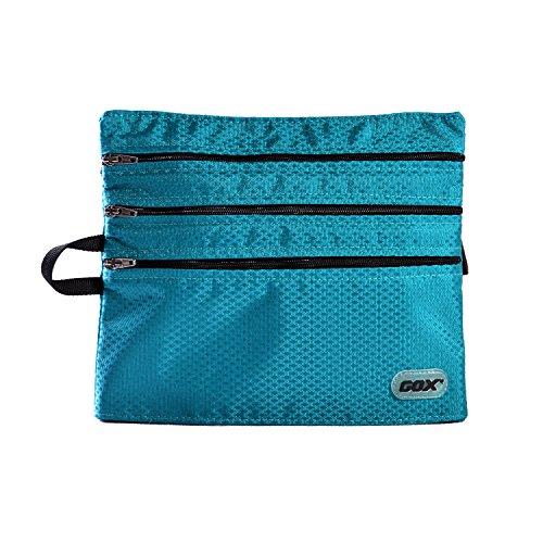 Borsetta viaggio volo, GOX Premium 420D Nylon Sacchetti di Imballaggio Portatile / Zip / Borsa Zipper / Viaggio Dell'organizzatore di Immagazzinaggio per l'imbarco / Organizer per Valigia o Zaino (Lago Blu)