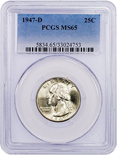 1947 D Washington Quarter Quarter MS65 PCGS