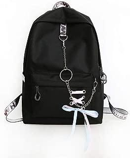 GLJ Schoolbag Student Ridge Reduction Shoulder Bag Children Backpack Backpack (Color : Black)