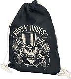 Guns N' Roses Skull and Pistols Turnbeutel schwarz