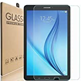 [2 Pack] KIQ Galaxy Tab E 9.6 SM-T560 Tempered Glass Screen Protector, 9H Tough 0.30mm Bubble-Free Anti-Scratch Self-Adhere Easy-to-Install for Samsung Galaxy Tab E 9.6 T560