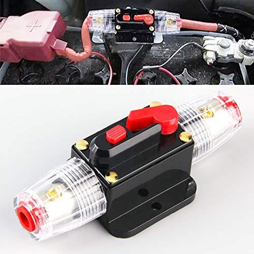 Bestine Automatiksicherungshalter 12V-24V DC, Inline Auto Leistungsschalter, Manuellen Reset Schalter Car Audio Sicherung für Car Audio Solar Inverter Systemschutz