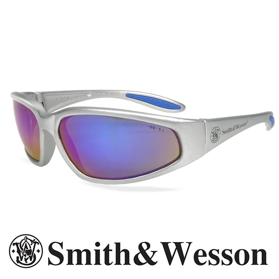 ファイアル力聞く[Smith & Wesson] S&W スミス&ウェッソン 38 Specials 38スペシャル UVカットサングラス [シルバーフレーム][ブルーミラーレンズ]