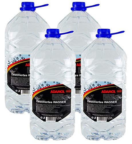 ADAMOL 4X 1896 Destilliertes Wasser demineralisiert & entsalzt VDE 0510 5,02 L