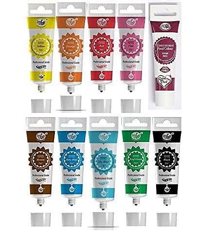 Rainbow Dust ProGel Gel colorante alimentario profesional color - colores favoritos 10 colores