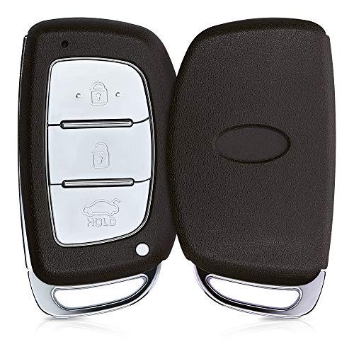 kwmobile Funda Llave Coche Compatible con Hyundai Kia Llave de Coche Keyless Go de 3 Botones - Repuesto plástico Duro para Mando de Auto - Negro