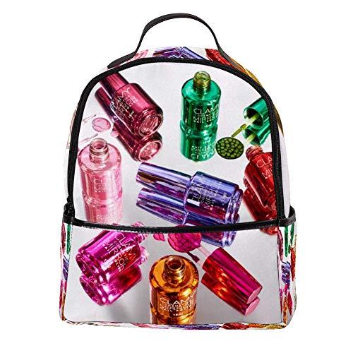 TIZORAX Multi kleuren Nagellak Laptop Rugzak Casual Schouder Daypack voor Student School Bag Handtas - Lichtgewicht