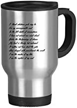 Poetry Quote Never Surrender Unbeatable Stainless Steel Travel Mug Travel Mugs Gifts With Handles 13oz