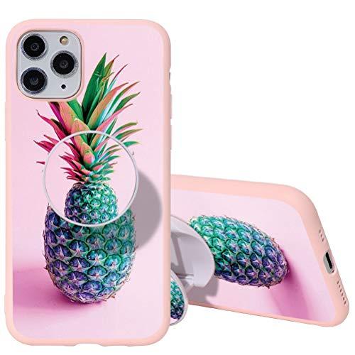 Yoedge Coque iPhone 6 / 6s avec Support de Bague, Etui en Silicone avec Motif 3D Dessin TPU Antichoc Souple Housse de Protection Case Cover Coques pour Apple iPhone 6 / 6s, Rose Ananas