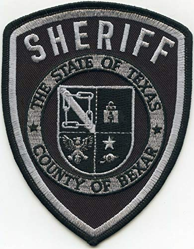 Embroidered Patch - Patches for Women Man - Bexar County Texas TX Subdued Sheriff Police