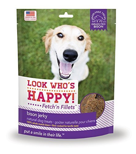 Look Who's Happy Products Fetch'n Fillets Bison Jerky by Big Creek Foods makers of Look Who's Happy...