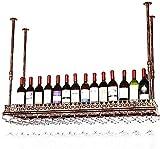 Clásico Cocina for guardar Organización del hierro del metal de techo Vino Bastidores  Altura ajustable de vino Cubilete Bastidores  Estilo creativo de la vendimia decoración de la barra estante de ex
