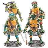 LYXPUZI 4 Juegos de Tortugas Ninja-TMNT versión 2012 con Base móvil Figura Coleccionable