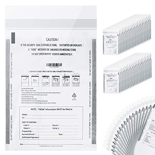 Bank deposit bags plasticMoney bag for cashBank bagCash register bags 9 x 12 Inch White 100 Pack
