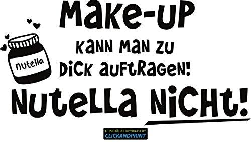 CLICKANDPRINT Aufkleber » Nutella, 20x10,1cm, Schwarz • Dekoaufkleber/Autoaufkleber/Sticker/Decal/Vinyl