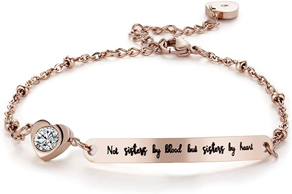 ODLADM Step Sister Bracelet Stainless Steel Not Sister by Blood
