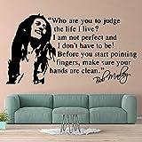 Soul Reggae Music Star Legend Cantante Bob Marley Retrato Citas inspiradoras...